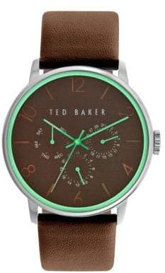 Ted Baker Mens Multifunction Leather Strap Watch 10023496
