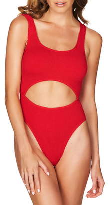 Bond Eye BOUND by Bond-Eye The Mishy High Cut Ribbed One-Piece Swimsuit