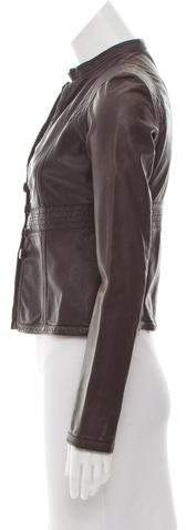Emporio Armani Distressed Leather Jacket