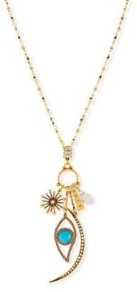 Sequin Celestial Charm Necklace