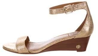 Tory Burch Metallic Wedge Sandals