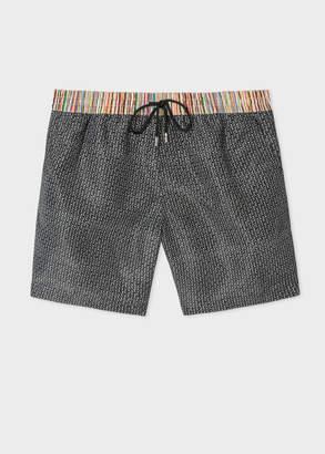 Paul Smith Men's Black Geometric Print Swim Shorts