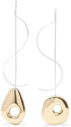 Leigh Miller - Hepworth Drop White Bronze, Gold-tone And Silver Earrings