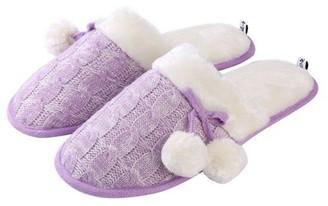 AERUSI Aerusi Mady Pom Knit Women's Slip-on Indoor Home Slippers