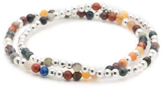 George Frost Essaouira Sterling Silver And Multi-Stone Bracelet Set