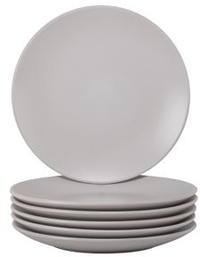 Ten Strawberry Street 10 Strawberry Street Wazee Matte Dinner Plate, Set of 6