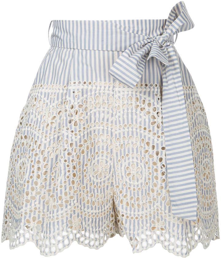 Shorts mit Lochstrickmuster
