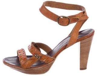 Alberto Fermani Leather Ankle-Strap Sandals