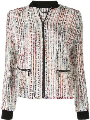 Elie Tahari Brooke frayed tweed jacket