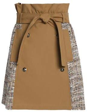 MSGM Cotton-Gabardine Wrap Skirt