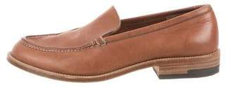 Henry Beguelin Leather Round-Toe Loafers