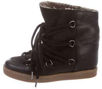 Isabel Marant Nowles Lace-Up Wedge Sneakers