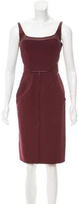 J. Mendel Sleeveless Bodycon Dress