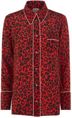 No.21 No. 21 Leopard Print Silk Shirt