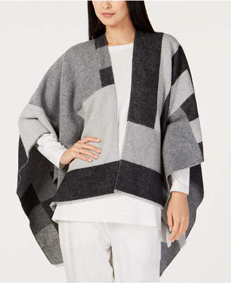 Eileen Fisher Colorblocked Open-Front Poncho, Regular & Petite