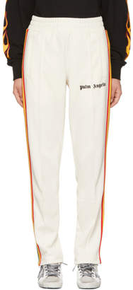 Palm Angels White Rainbow Track Pants