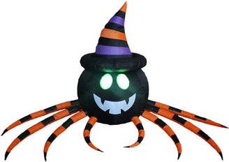 The Holiday Aisle Halloween Inflatable Spider with Hat