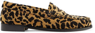 RE/DONE Weejuns The Whitney Leopard-print Terry Loafers - Leopard print