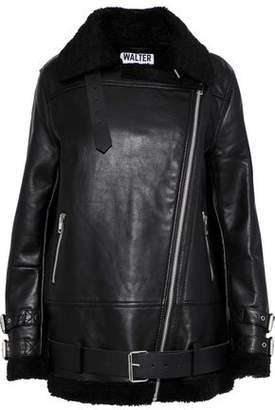 Walter W118 By Baker Adele Faux Shearling-trimmed Leather Jacket