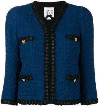 Edward Achour Paris v-neck tweed jacket