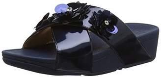 389d606b2 FitFlop Women s LULU Flower Slide Open Toe Sandals