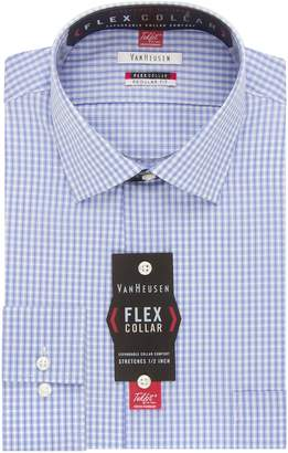 Van Heusen Men's Flex Collar Regular Fit Spread Collar Dress Shirt