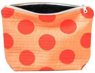 Lucy Engels Large Makeup Bag Big Spot Orange