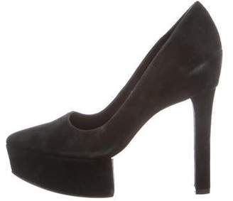 Theyskens' Theory Suede Platform Pumps