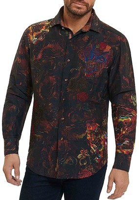 Robert Graham Limited Edition Mystical Garden Classic Fit Button-Down Shirt $398 thestylecure.com