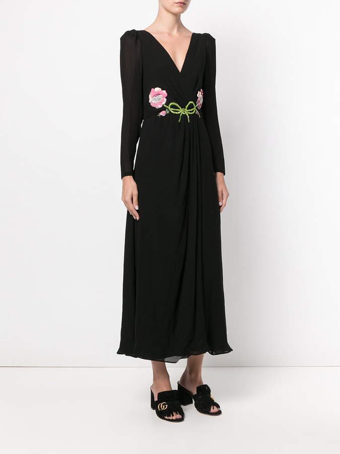 Gucci floral embroidered maxi dress