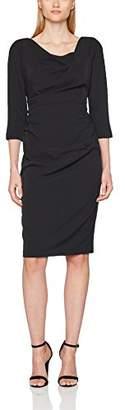 Adrianna Papell Women's 3/4 Sleeve Tucked Draped Dress