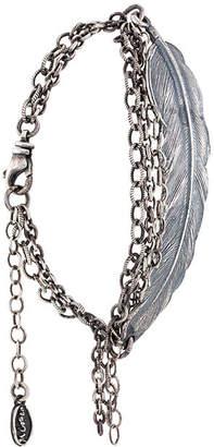 M. Cohen leaf plate bracelet