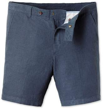 Charles Tyrwhitt Airforce Blue Cotton Linen Shorts Size 38