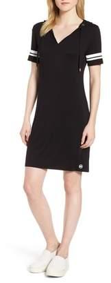 MICHAEL Michael Kors MICHAEL Michal Kors Stripe Sleeve Hoodie Dress
