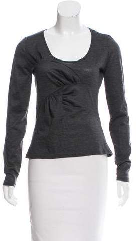Christian Dior Wool Long Sleeve Top
