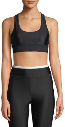 P.E Nation The Vault Racerback Performance Crop Top Bra