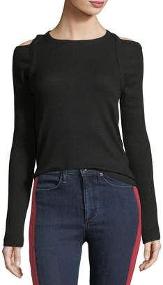 Rag & Bone Rosalind Crewneck Long-Sleeve Rib-Knit Sweater