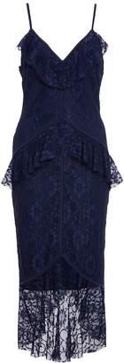 Quiz Navy Lace Frill Strap Midi Dress