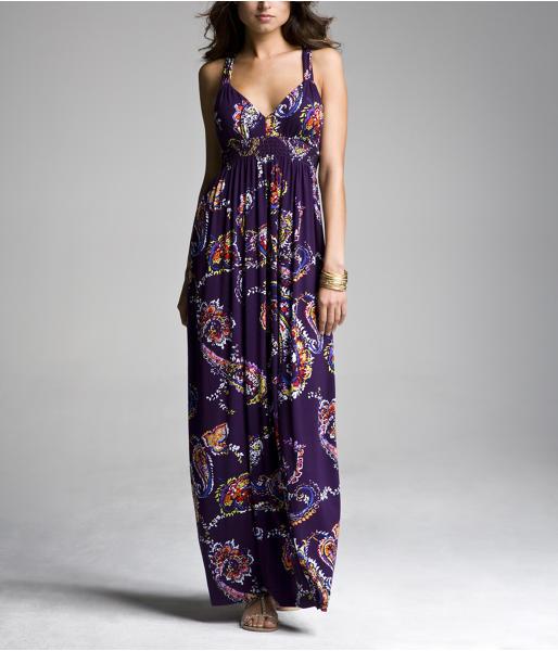 Racerback Maxi Dress - Paisley