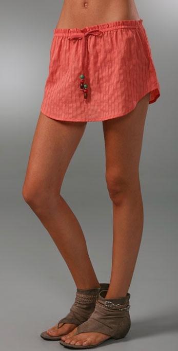 Dallin Chase Tie Waist Miniskirt