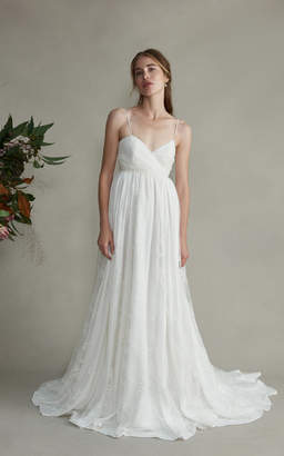 Markarian Josephine Silk Sweetheart Lace Gown