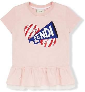 Fendi logo printed blouse