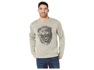 Lucky Brand Fleece Monster Crew Neck Sweatshirt