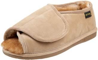Old Friend Men's Step-In Open-Toe Slipper
