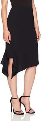 Anne Klein Women's Asymetric Hem Crepe Skirt