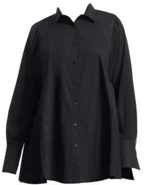 Marina Rinaldi Marina Rinaldi, Plus Size Pleated Button-Down Shirt