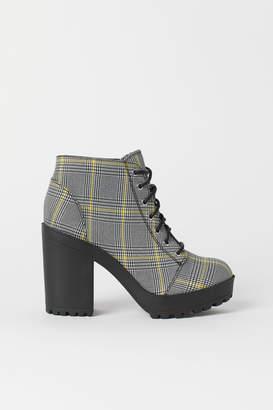 H&M Platform Ankle Boots - White