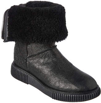 Moncler New Christine Leather Ankle Boot