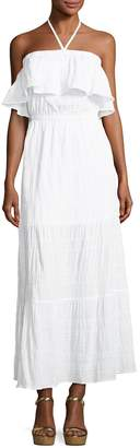 MICHAEL Michael Kors Halter Tiered Maxi Dress, White $125 thestylecure.com