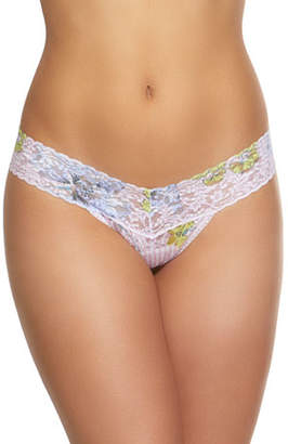 Hanky Panky Garden Stripe Low-Rise Lace Thong